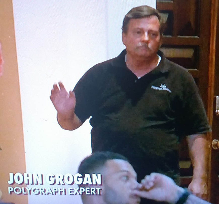 John Grogan is the Los Angeles polygraph examiner
